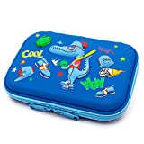 Cool Baseball Boys Dinosaur Pencil Case - Large Capacity Hardtop Pencil Box with Compartments - Colored Pencil Holder School Supply Organizer for Kids Girls Toddlers Children (Royal Blue)