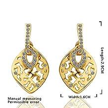 Laprapha New Beautiful Fashion 18K Gold Plating earings fashion jewelry yellow hollow drop earrings cufflinks horloge