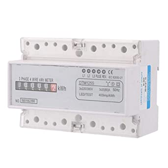 3 Phase DIN-Rail Electric Power Meter, 220/380V 20-80A Watt