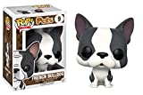 Funko POP Pets French Bulldog Action Figure, Grey &White