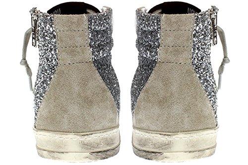 Woman Glt Silver Model P448 E7skatesilver Glitter Sneakers dSnaq