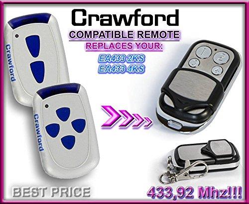 EA433 4KS compatible remote control 433,92Mhz Rolling code Crawford EA433 2KS