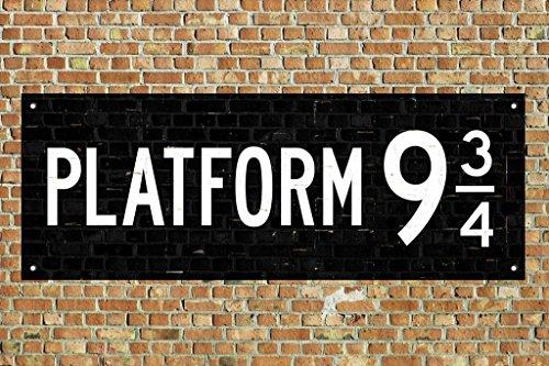 Train Platform 9 3/4 King Cross London Movie Poster 36x24 in