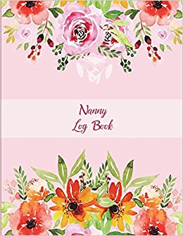 Nanny log book pink flowers floral nanny journal kids record turn on 1 click ordering for this browser mightylinksfo