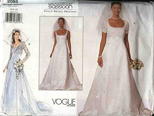 Vogue Sewing Pattern 2085 Misses Size 6-8-10 Bellville Sassoon Wedding Gown Bridal Gown Dress