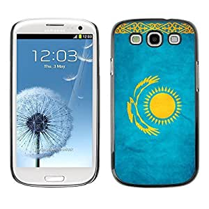 Shell-Star ( National Flag Series-Kazakhstan ) Snap On Hard Protective Case For Samsung Galaxy S3 III / i9300 i717