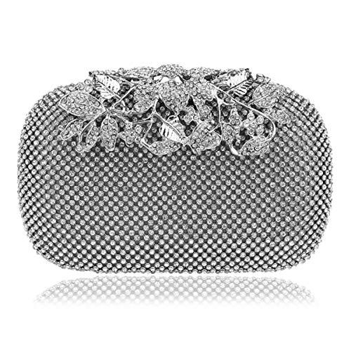6x10x16cm argenteo donna per frizione colore diamante 2x4x6inch dimensioni da sera Eeayygch cinturino da nero borsa Pochette pwqaSUZ