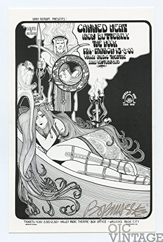 Iron Butterfly Handbill Canned Heat 1969 Mar 15 Woordland Hills