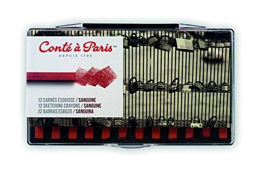 Sanguine Crayon (Conté à Paris 12 Count Sketching Crayons Set, Sanguine)