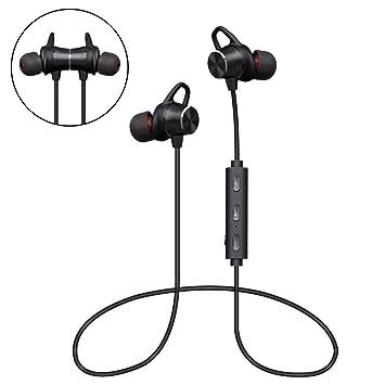 Auriculares Bluetooth Magnéticos, Auriculares Deportivos Inalámbricos con Micrófono, IPX4 Impermeable HD Estéreo Auriculares,