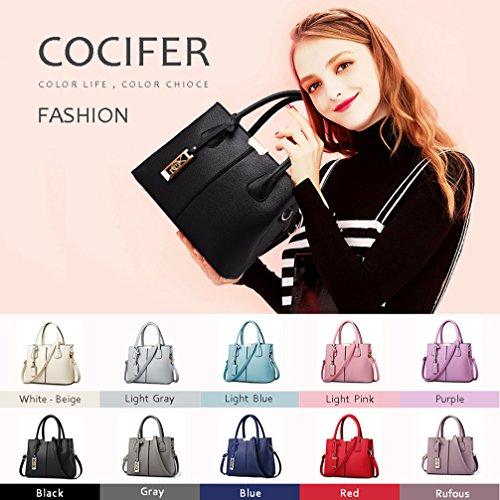 Satchel White Bag Handle Top beige Messenger Tote Shoulder Women Cocifer Bags Purse Handbags ZTqRwtwP