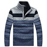 PUTAOJIAZI New New Winter Men's Sweater Jumpers Pullover Sweater Gray XL