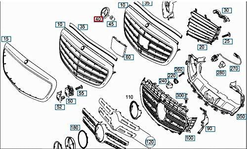 MB S-Class W222 Grille de radiateur pour pare-chocs avant A0008171901