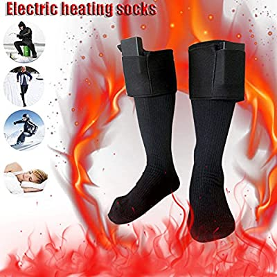 Electric Heated Socks Battery Powered Socks Winter Foot Warmer Unisex Dual-Layer Thermal Socks For Hiking Skiing Outdoor Sports