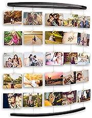 Uping Cornice Portafoto Multipla Cornice Foto Collage da Parete, Portafoto con Clip per Appendere Foto Wall Decor