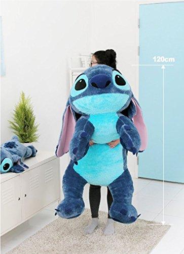 Amazon.com  Disney Stitch 120cm(47.2inch) Lilo and Stitch Lying Big Size  Doll  Toys   Games 38a3ea266
