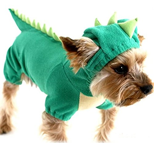 Dinosaur Dog Jumpsuit New Design Pets Puppy Cat Hoodies Green Dragon Pet Hoody Clothes Costume (XS) (Girl Gumby Costume)