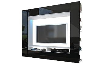 Wohnzimmer Entertainment Wohnwand U2013 Hochglanz Moderne U2013 TV Schränken,  Regalen U0026 LEDs U2013 Eli