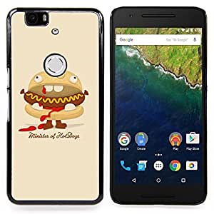 Funny Minister Of Hot Dogs Burger Caja protectora de pl??stico duro Dise?¡Àado King Case For Huawei Nexus 6P