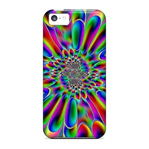 Hot Design Premium FZi15195YXJd Cases Covers Iphone 5c Protection Cases(psychedelic Rainbow Splash)