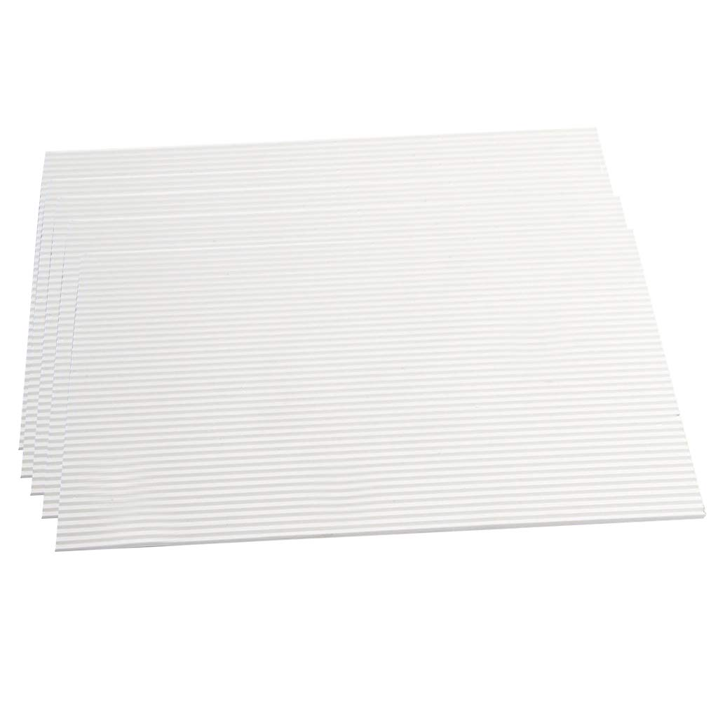 Fenteer 5PCS Simulation Model Steps Plate for Architecture Model Accessories Material 5.71 x 8.27 x 0.12in.
