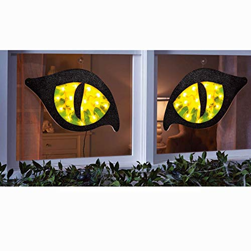 Hyde and Eek! Halloween Lighted Green Cat Eyes