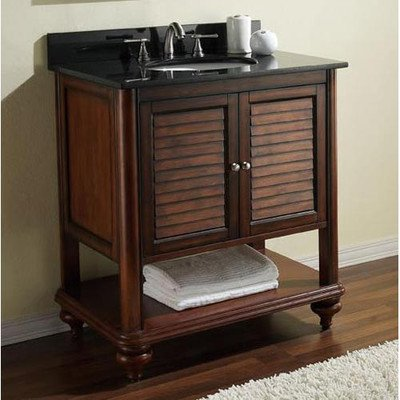 Avanity Tropica 24 in. Vanity with Galala Beige Marble Top and Sink in Antique Brown finish