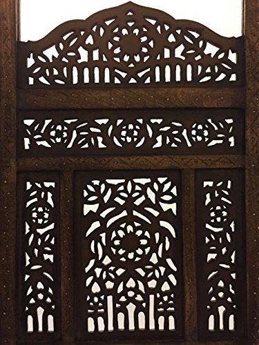 Schon Orientalischer Paravent Raumteiler Aus Holz Abhinava 150 X 180cm Hoch In  Braun | Indischer Trennwand Als Raumtrenner Oder Dekoration ...