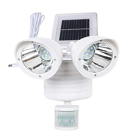 Luz Solar De Doble Cabezal Impermeable Al Aire Libre Luces Solares ...