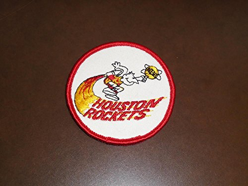 - ORIGINAL 1971 HOUSTON ROCKETS FIRST YEAR NBA BASKETBALL PATCH 3 INCHES DIAMETER