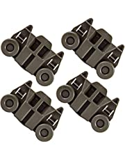 W10195417 UPGRADED Dishwasher Wheels Lower Rack for kenmore whirlpool KitchenAid Dishwasher Wheels Replaces Dish Rack Part Numbers AP4538395, PS2579553, WPW10195417, AH2579553, EA2579553 (4 Packs)