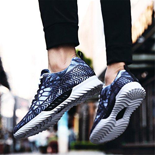 ZanYeing Herren Sneakers Atmungsaktiv Sportschuhe Bequeme Laufschuhe Fitness Hallenschuhe Ultraleicht Turnschuhe für Paare36-45 Blau