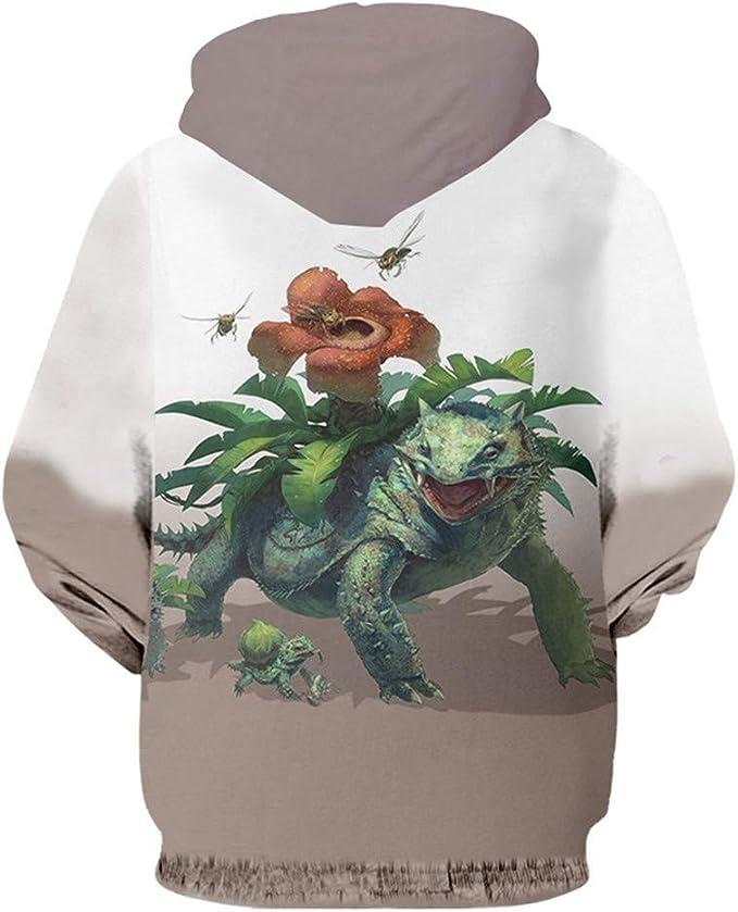 Huytong 3D HD Unisex Hoodies Print Sweatshirts Coat Tops Pullover Pokemon S-3XL