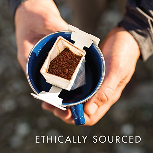 Kuju Coffee Pocket PourOver - Single Serve, Portable Pour Over Coffee - No Equipment Needed - Made with Ethically-Sourced Specialty Coffee - 10-pack   Basecamp Blend, Medium Roast by KUJU COFFEE (Image #5)