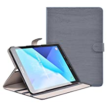 Apexel for Samsung Galaxy Tab S3 T820/T825 Slim Smart Cover Case 9.7 Inch Stand Tablet with Auto Wake/Sleep Card Slots - Grey