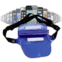 Waterproof Phone Waist Bag With Adjustable Waist Strap For Sony Xperia Z, Sony Xperia L, Sony Xperia S, Sony Xperia C3, Xperia T & Ericsson Xperia Arc S, By DURAGADGET