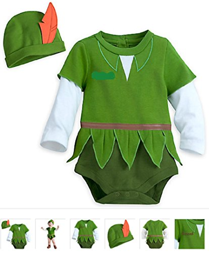 Disney - Peter Pan Costume Bodysuit for Baby - Size 9-12 months