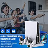 BEBONCOOL PS5 Stand with Cooling Fan, PS5 Cooling
