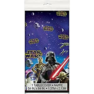"Unique Star Wars Party Plastic Table Cover 54"" x 84"", 1 Ct."