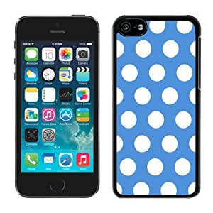 Cool Design Cover in Electronics Polka Dot Blue and White Iphone 5c Case Balck Cover