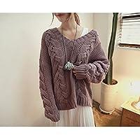 HDYS La Mujer suéter de Lana de Color