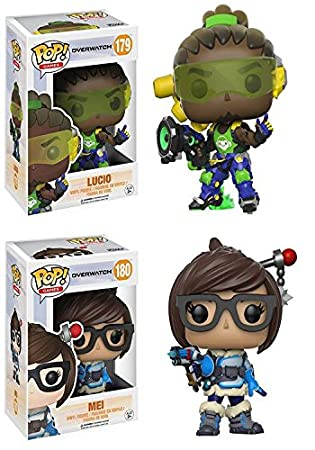 Overwatch: Lucio + Mei – Stylized Video Game Vinyl Figure New