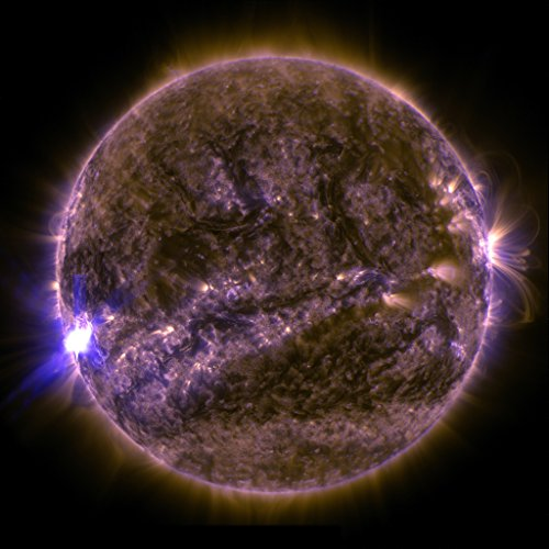 NASA Mid-level Sunspot Solar Flare Poster Art Photo Space Posters Artwork Photos