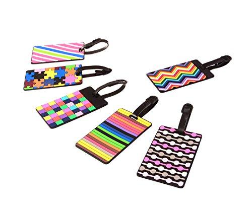Ailiebhaus , Etichetta per valigie Multicolore Mosaic