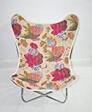 Butterfly Chair Cover Canvas Chair Cover, Kantha Butterfly Chair Cover
