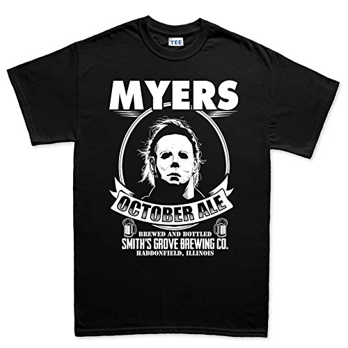 Customised_Perfection MensMikeMyersHalloweenAleScaryCostumeT Shirt(Tee) BLK L Black