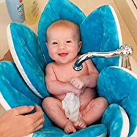 مقعد استحمام اسفنجي للاطفال قابل للطي بتصميم زهرة متفتحة وملونة ب8 الوان من مستلزمات استحمام الطفل [99K]