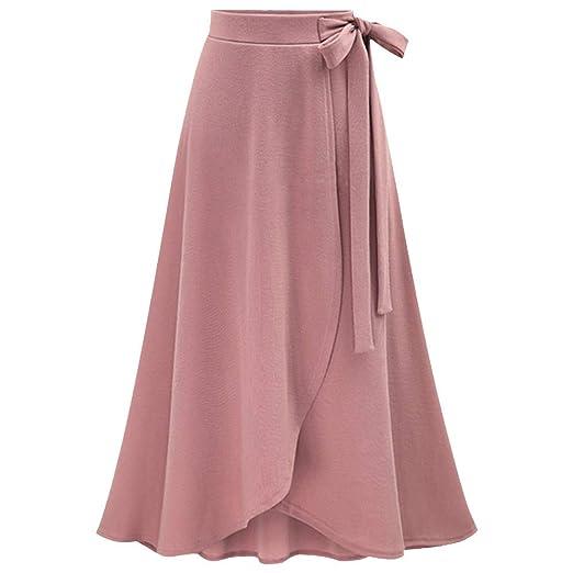 f9d01ff70c9 Amazon.com  Women s High Waist Maxi Skirt Female Irregular Split Waist Belt Skirt  Ladies Knitted Linen Long Skirt New 2019  Car Electronics