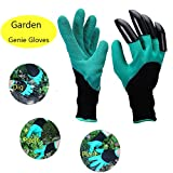 OneAccess Garden Genie Gloves with Claw Fingers, Fingertips Claws on Right Hands, Quick Easy To Dig & Plant Nursery Plants,Safe for Rose Pruning- As Seen on TV?1 Pair)