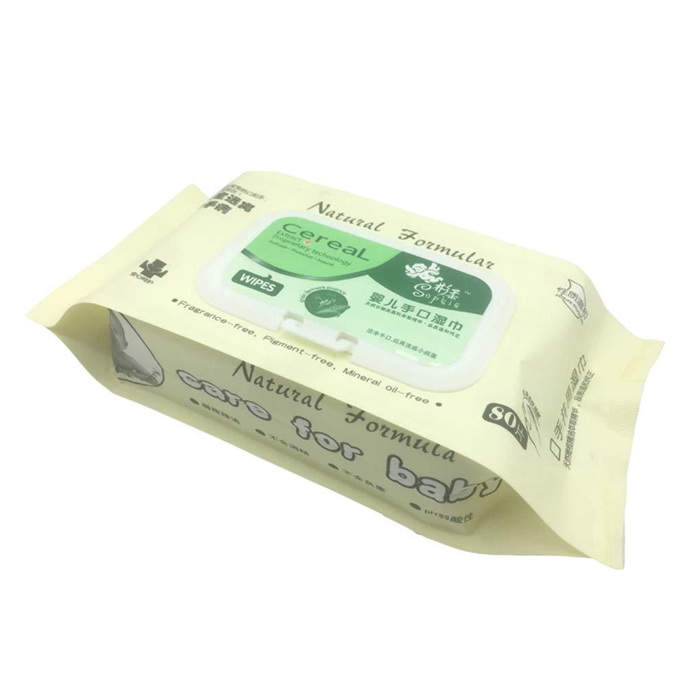 Frcolor Toallitas húmedas para bebés 80 por paquete Toallitas húmedas para bebé recién nacido boca (color aleatorio): Amazon.es: Belleza